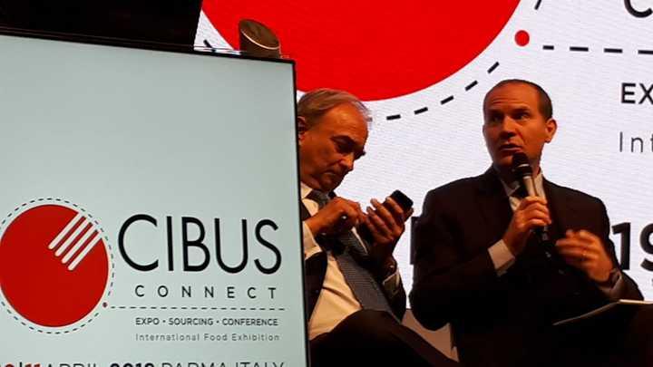 Il presidente Giansanti interviene alla inaugurazione di 'Cibus Connect' a Parma
