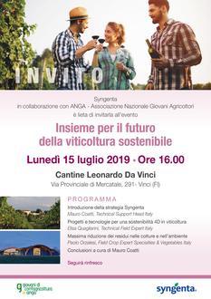 """Evento Syngenta-Anga """"Insieme per il futuro della viticoltura sostenibile"""""""