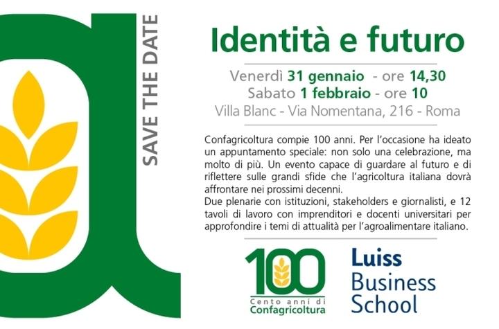 """SaveTheDate - """"Identità e futuro"""" - Venerdì 31 gennaio / sabato 1 febbraio 2020 - Villa Blanc, ROMA"""