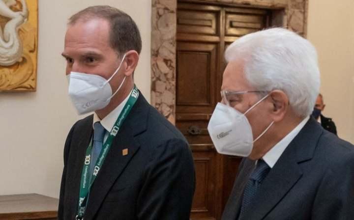 Il presidente di Confagricoltura Giansanti al Quirinale, ricevuto dal Presidente della Repubblica Mattarella