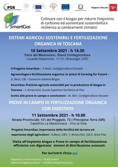SMARTGAS Invito alla visita in azienda di Grosseto 10-11 Settembre 2021