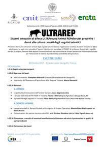 """Evento finale progetto """"ULTRAREP"""" - Sistemi innovativi ad ultrasuoni per l'allontanamento degli ungulati selvatici - 30/10/2017"""