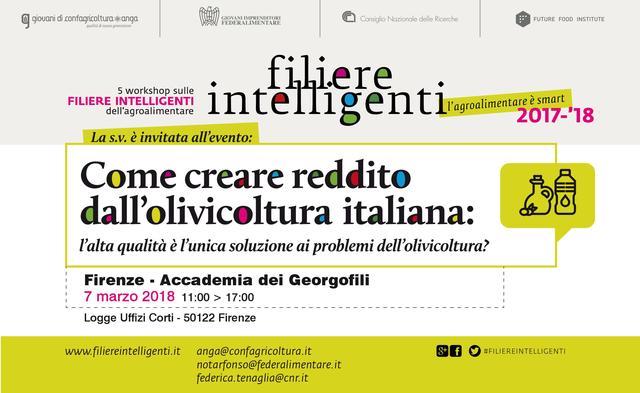 """""""Come creare reddito dall'olivicoltura italiana: l'alta qualità è l'unica soluzione ai problemi dell'olivicoltura?"""""""