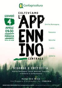 """SAVE THE DATE Convegno """"Coltiviamo l'Appennino Centrale - Risorse e Criticità"""" -  4 aprile 2019"""