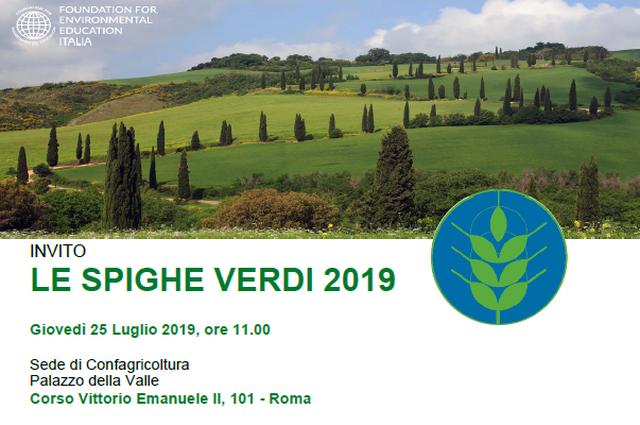 Save the date: il 25 luglio a Palazzo della Valle l'assegnazione delle Spighe Verdi 2019