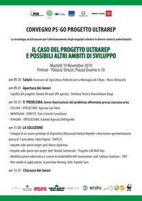 SAVE THE DATE - PS -GO ULTRAREP Convegno iniziale 19/11/2019 misura 1.2 PSR 2014/20 Regione Toscana