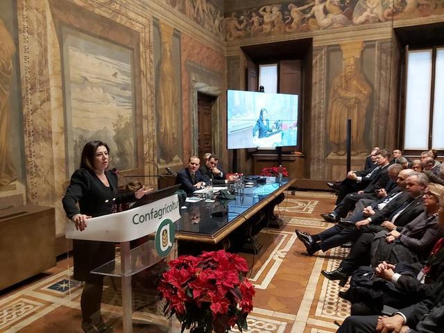 LA MINISTRA DELLE INFRASTRUTTURE DE MICHELI ALL'ASSEMBLEA DI CONFAGRICOLTURA