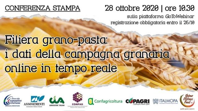 INVITO - CONFERENZA STAMPA 28.10.2020 - FILIERA GRANO-PASTA