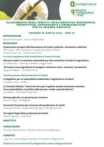 INSETTI, IL NUOVO BUSINESS. WEBINAR DI CONFAGRICOLTURA E ANGA IL 16 APRILE