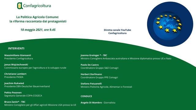 """Webinar - """"La Politica Agricola Comune: la riforma raccontata dai protagonisti"""""""