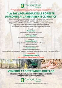 Convegno La salvaguardia delle foreste difronte ai cambiamenti climatici - 17 settembre ore 9.30