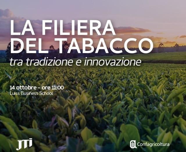 """INVITO - """"La filiera del tabacco tra tradizione e innovazione"""" - JTI e Confagricoltura - Roma, 14 ottobre ore 11.00"""